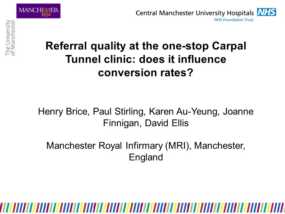 Referral quality at the one-stop Carpal Tunnel clinic: does it influence conversion rates.