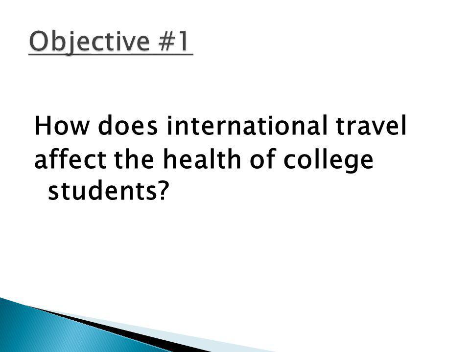 How does international travel affect the health of college students?
