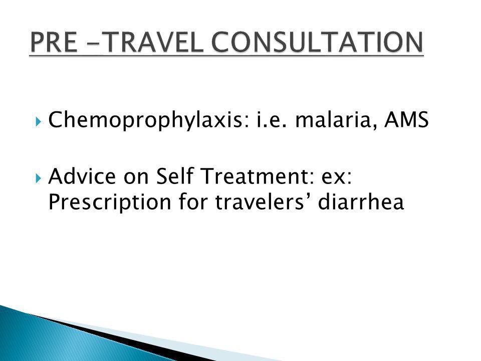 Chemoprophylaxis: i.e.