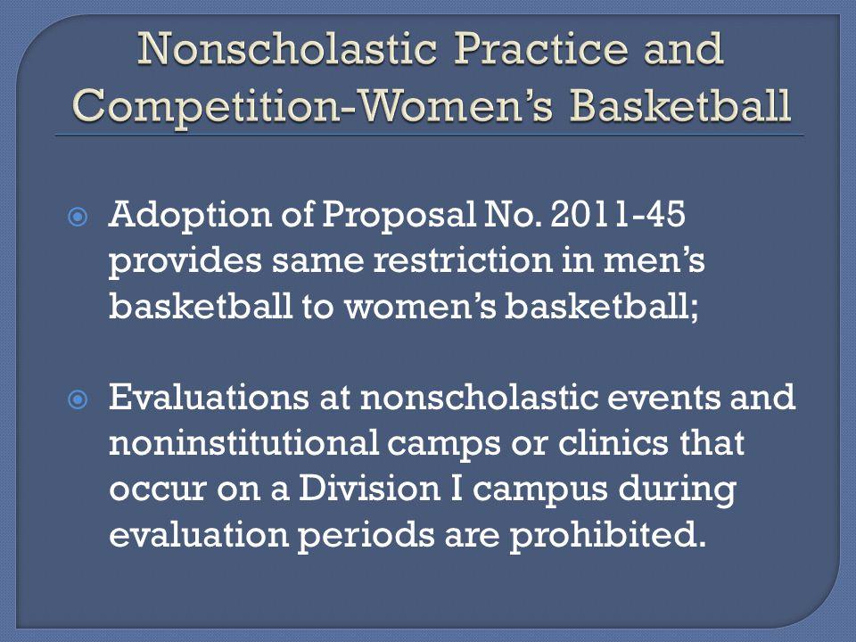 Adoption of Proposal No.