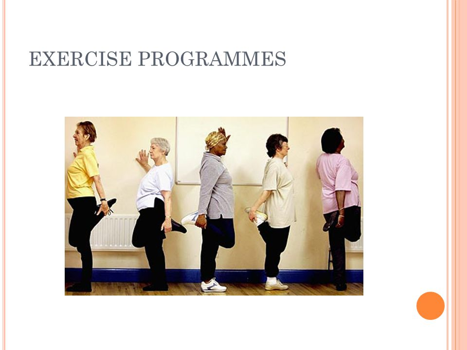EXERCISE PROGRAMMES