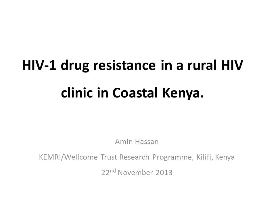 HIV-1 drug resistance in a rural HIV clinic in Coastal Kenya.