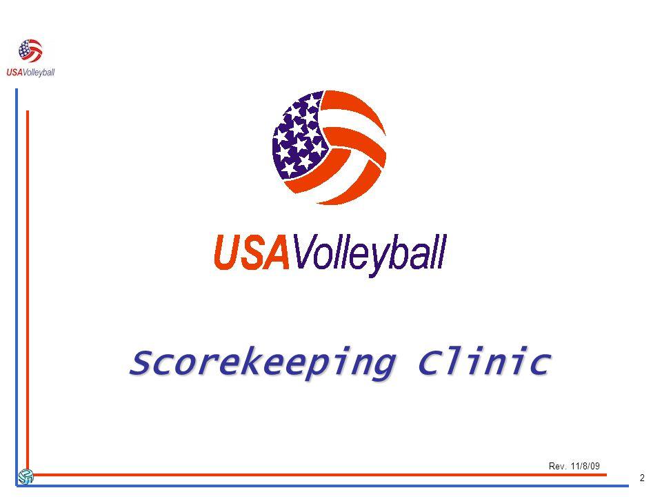 2 Scorekeeping Clinic Scorekeeping Clinic Rev. 11/8/09