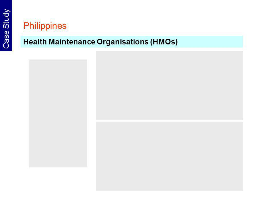 Philippines Case Study Health Maintenance Organisations (HMOs)