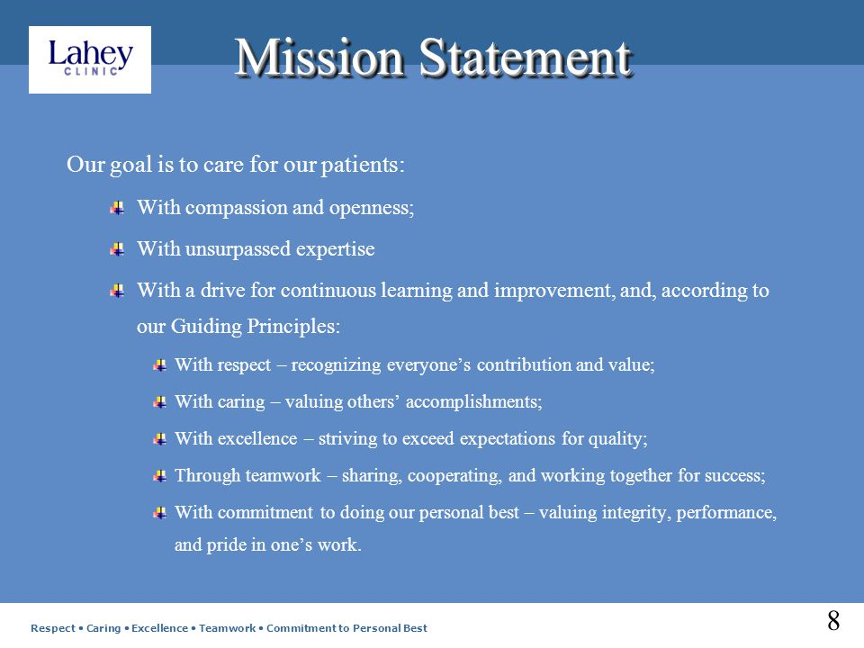 Corporate Overview Lahey Clinic is comprised of six sister corporations Lahey Clinic, Inc.