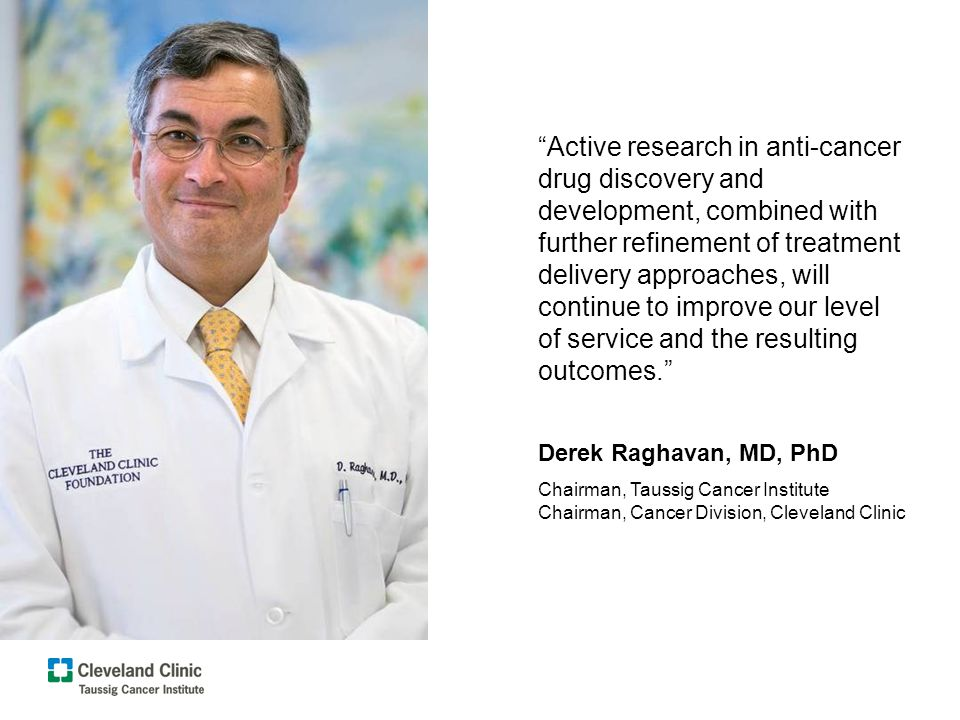 Active research in anti-cancer drug discovery and development, combined with further refinement of treatment delivery approaches, will continue to imp