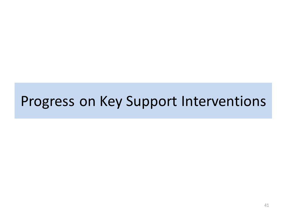 Progress on Key Support Interventions 41