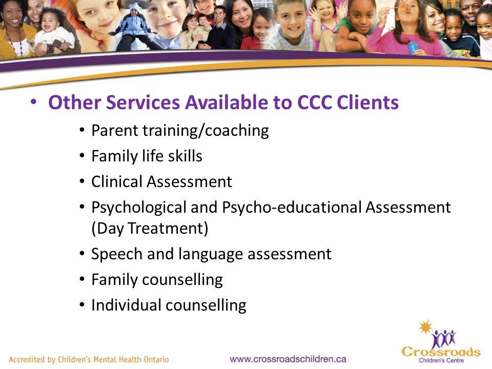 MENTAL HEALTH WALK-IN CLINIC Crossroads Childrens Centre