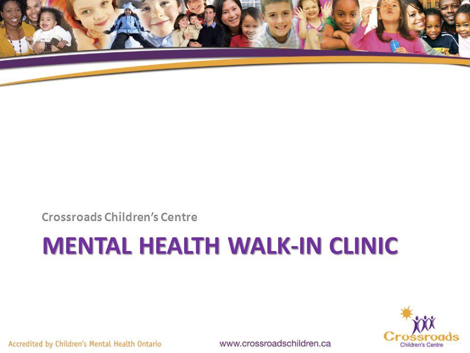 Why A Mental Health Walk-In Clinic.