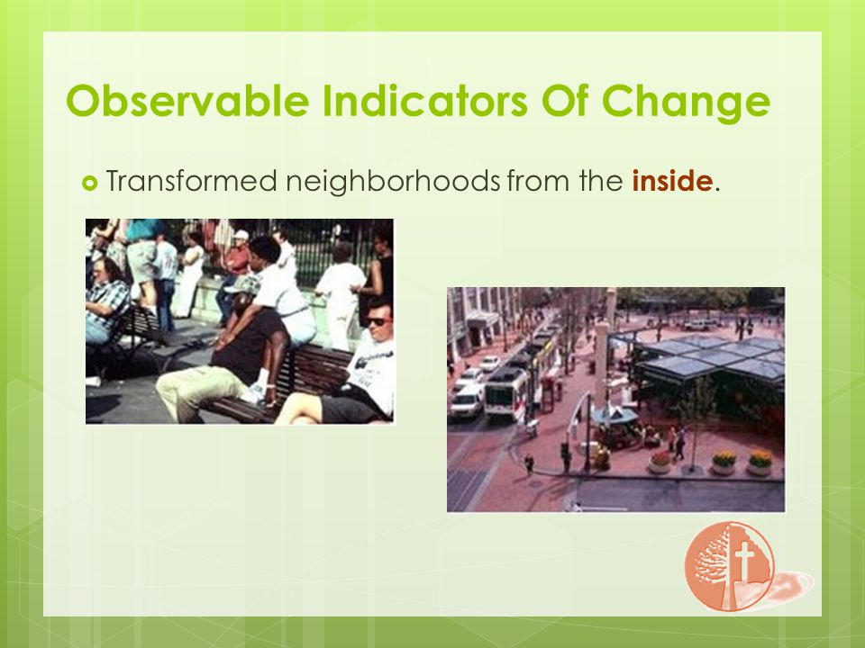 Observable Indicators Of Change Transformed neighborhoods from the inside.