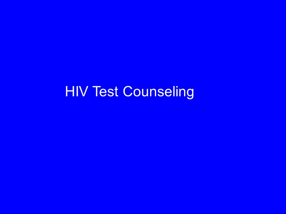 HIV Test Counseling