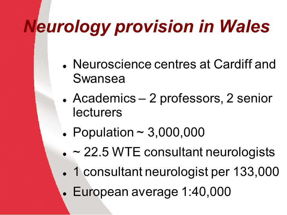 Referrals to Neurology Audit one month 2010 Cardiff and Vale LHB – 156 referrals 47% headache, 53% non-headache Other LHB areas – estimate >30% headache