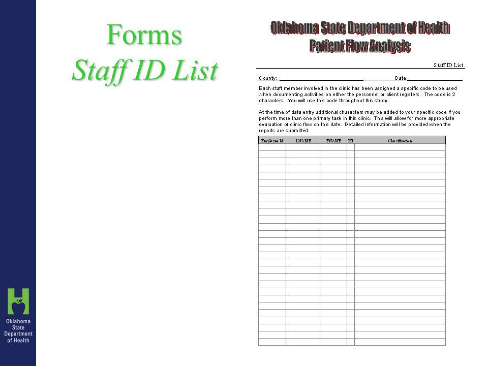 Forms Staff ID List