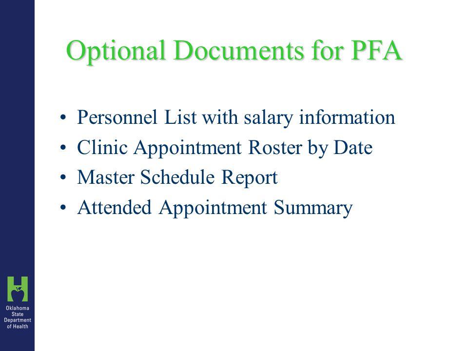 Planning & Preparing a PFA