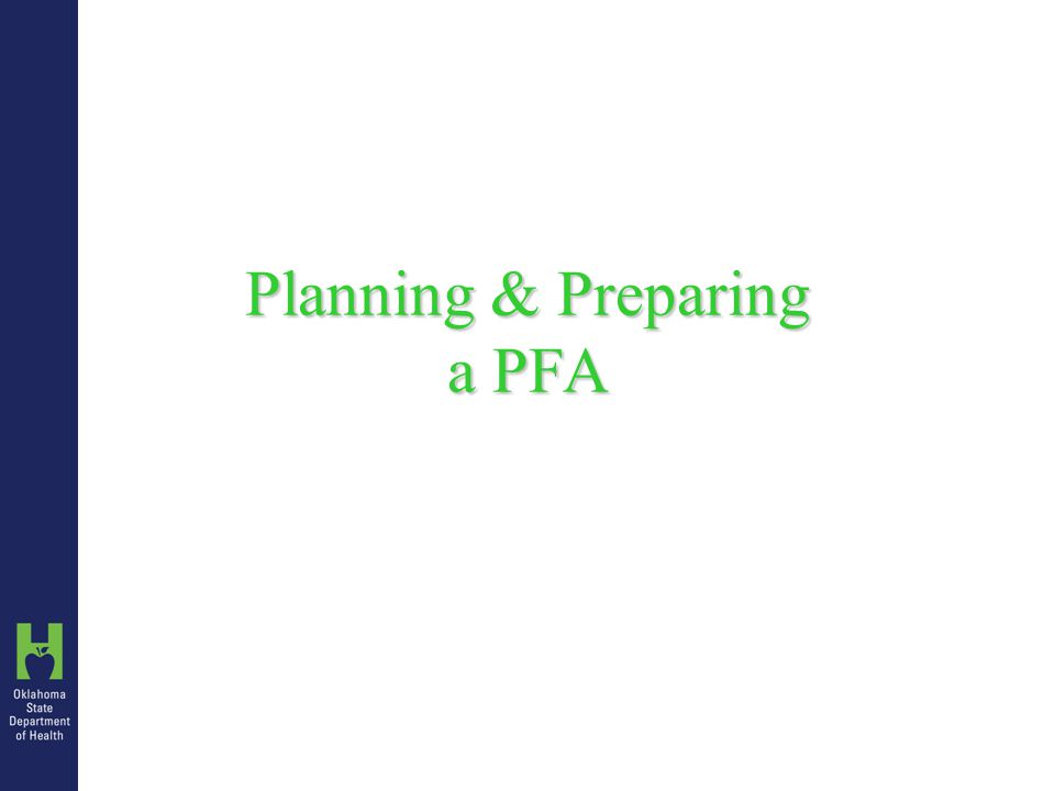 Conducting a PFA OSDH Process – Personnel Staff ID pre-assigned based on Staff ID List All personnel involved with clients on day of clinic Include travel only if PFA site is not home duty station.