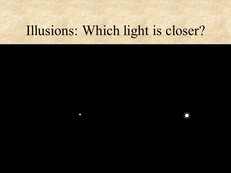 24 Illusions: Which light is closer?