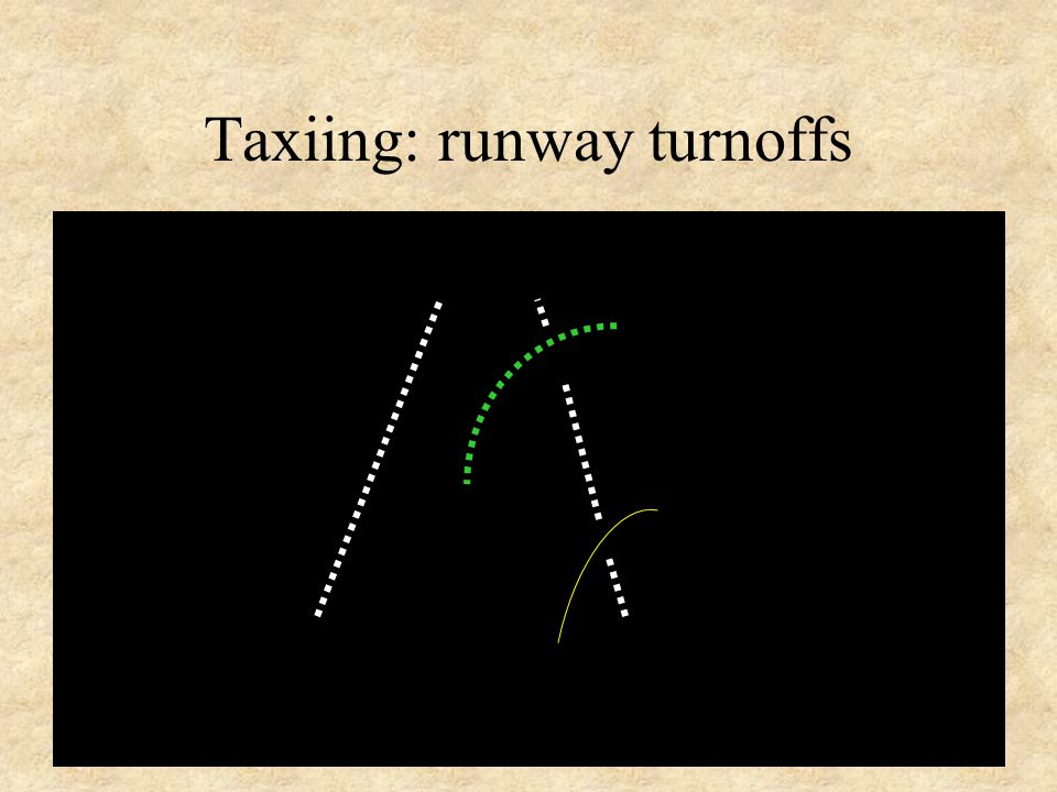 45 Taxiing: runway turnoffs