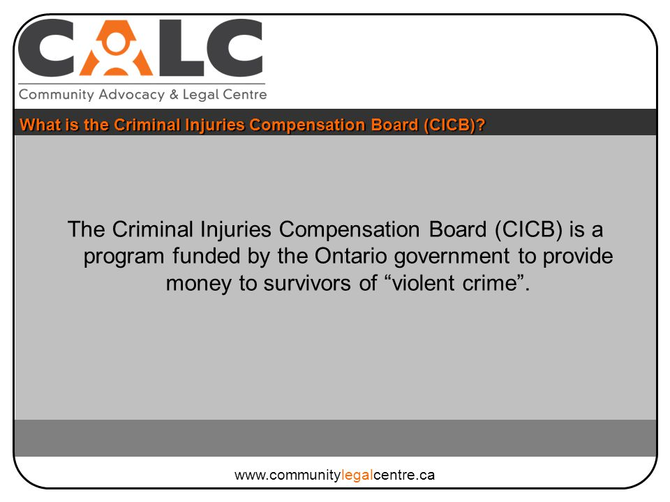What is the Criminal Injuries Compensation Board (CICB).