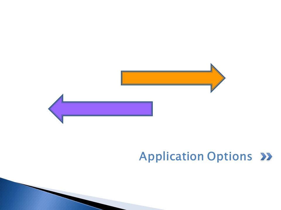 Application Options