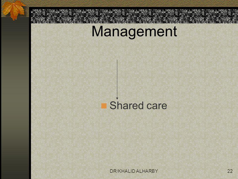 DR/KHALID ALHARBY22 Management Shared care