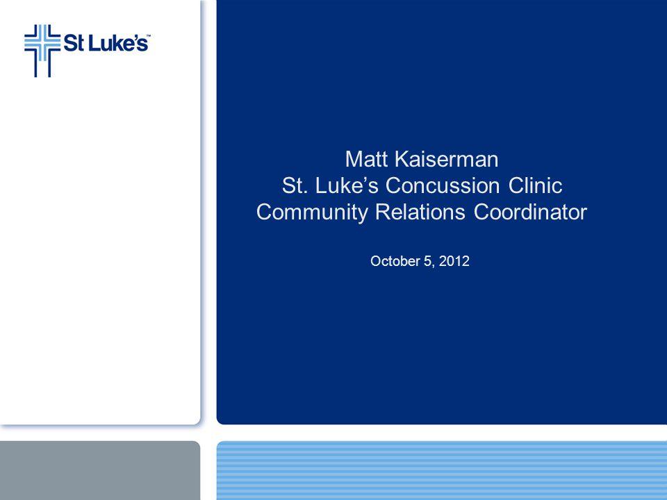 St. Lukes Concussion Clinic