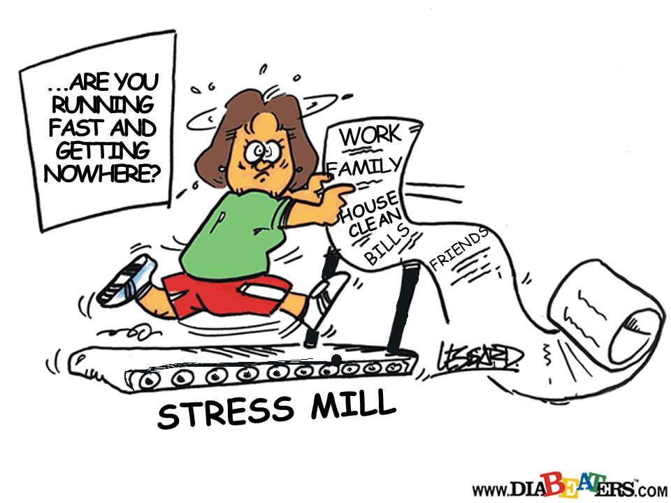 MYTH: Stress has no effect on diabetes.