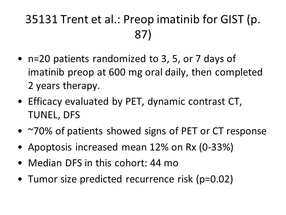 35131 Trent et al.: Preop imatinib for GIST (p.