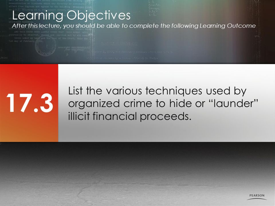 List the various techniques used by organized crime to hide or launder illicit financial proceeds.