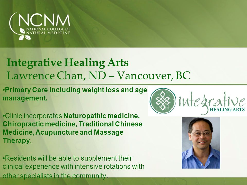 Integrative Healing Arts Lawrence Chan, ND – Vancouver, BC Primary Care including weight loss and age management.