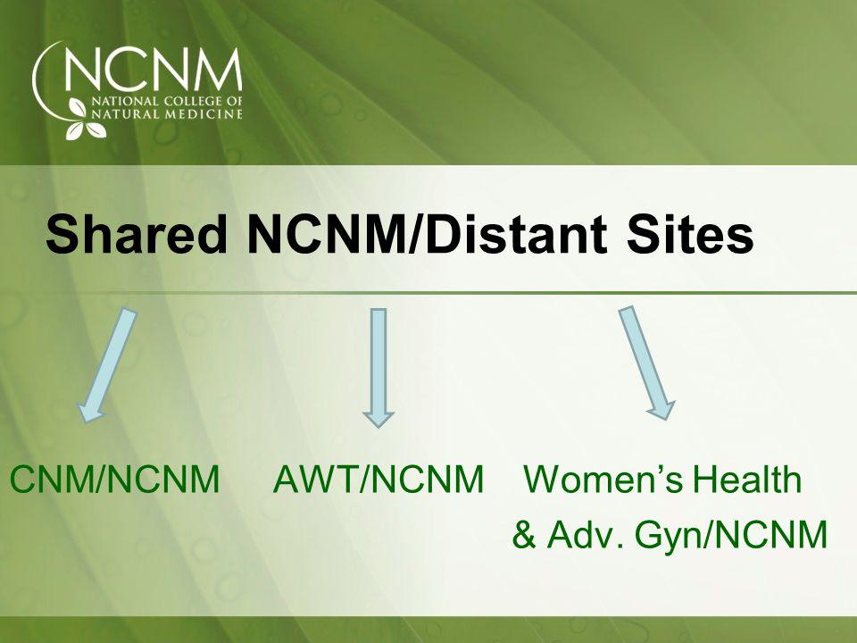 Shared NCNM/Distant Sites CNM/NCNM AWT/NCNMWomens Health & Adv. Gyn/NCNM