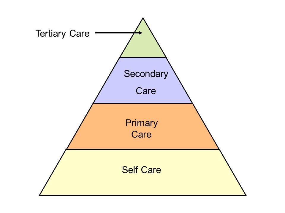 Self Care Primary Care Secondary Care Tertiary Care