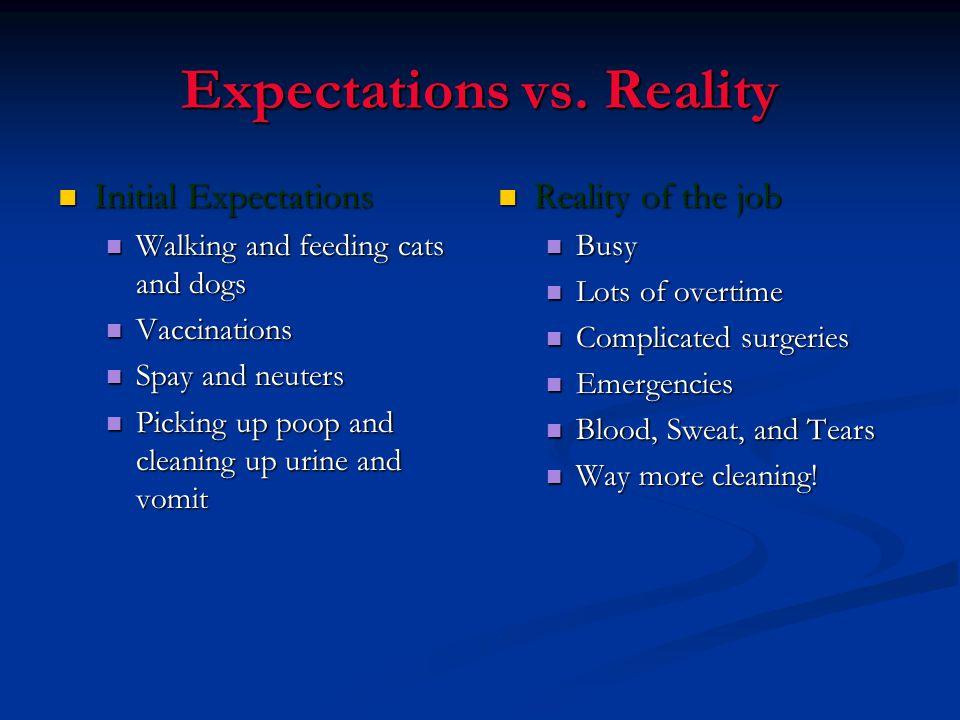 Expectations vs.