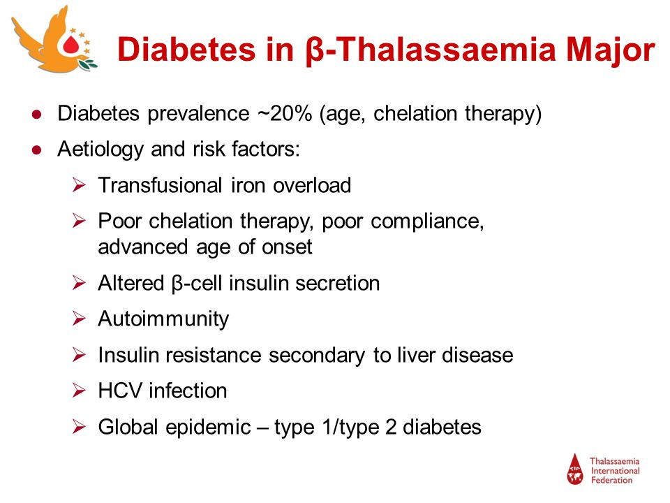 Patients with diabetes and thalassaemia have complex medical care needs Psychological impact – treatment burden, impact on daily life, feeling of difference, dependence and anxiety Partnership working of the Joint Diabetes Thalassaemia Clinic: Patients have easy access to senior specialist clinicians Continuity of care Supported by multidisciplinary team Working together with the patient and each other Supporting self-management Diabetes and Thalassaemia - Conclusions