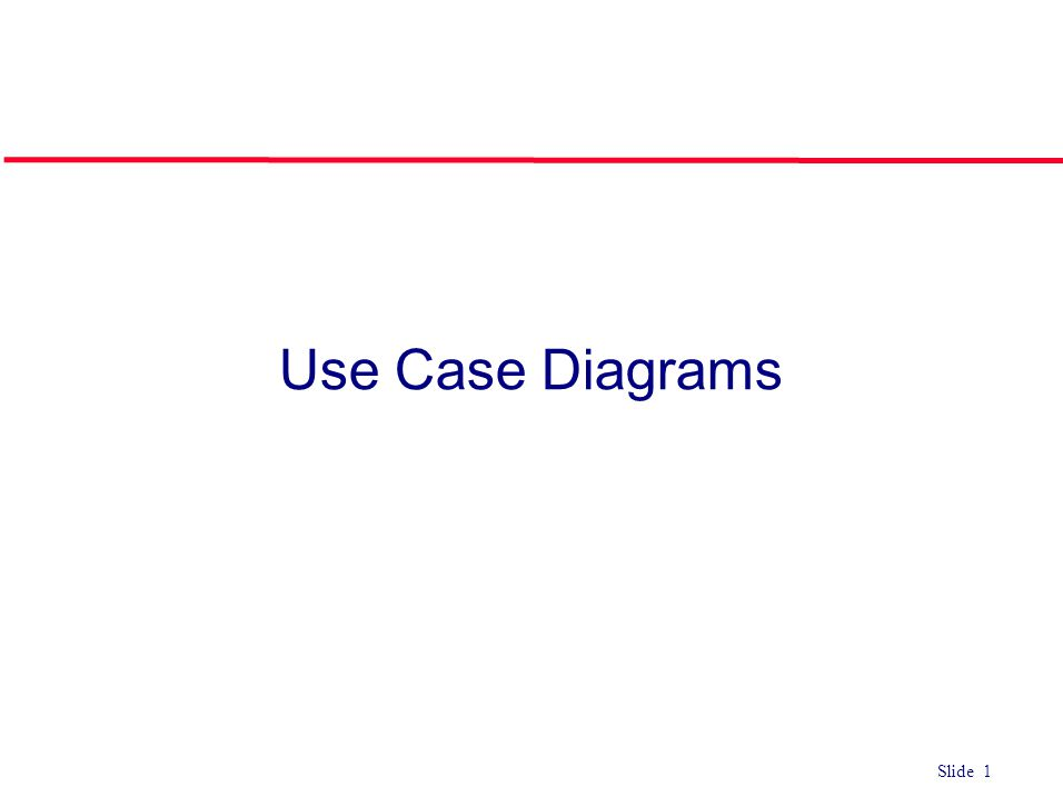 ©Ian Sommerville 2004Software Engineering, 7th edition. Chapter 4 Slide 1 Slide 1 Use Case Diagrams
