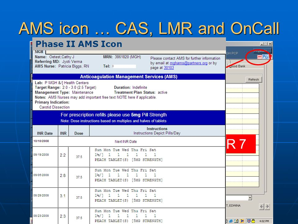 AMS icon … CAS, LMR and OnCall COMING NOVEMBER 7 Phase II AMS Icon