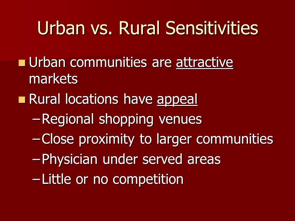 Urban vs.