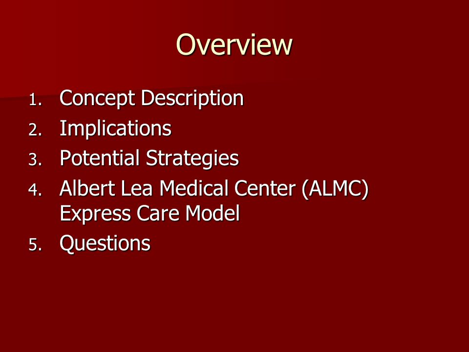 Overview 1. Concept Description 2. Implications 3.