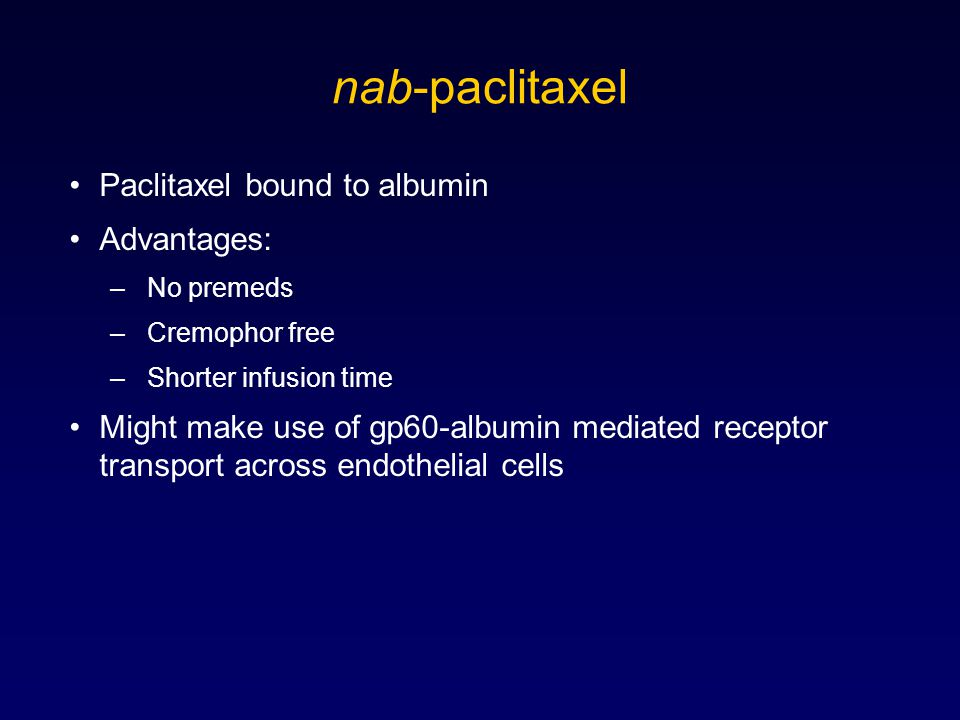 Phase II Study Evaluating Various Doses of nab-paclitaxel vs.