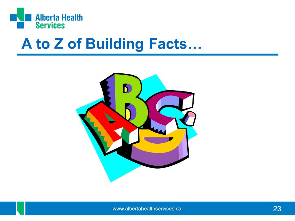 23 A to Z of Building Facts…