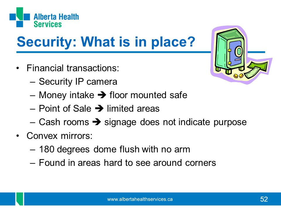 52 Security: What is in place.