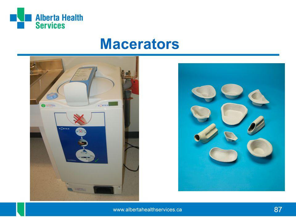 87 Macerators