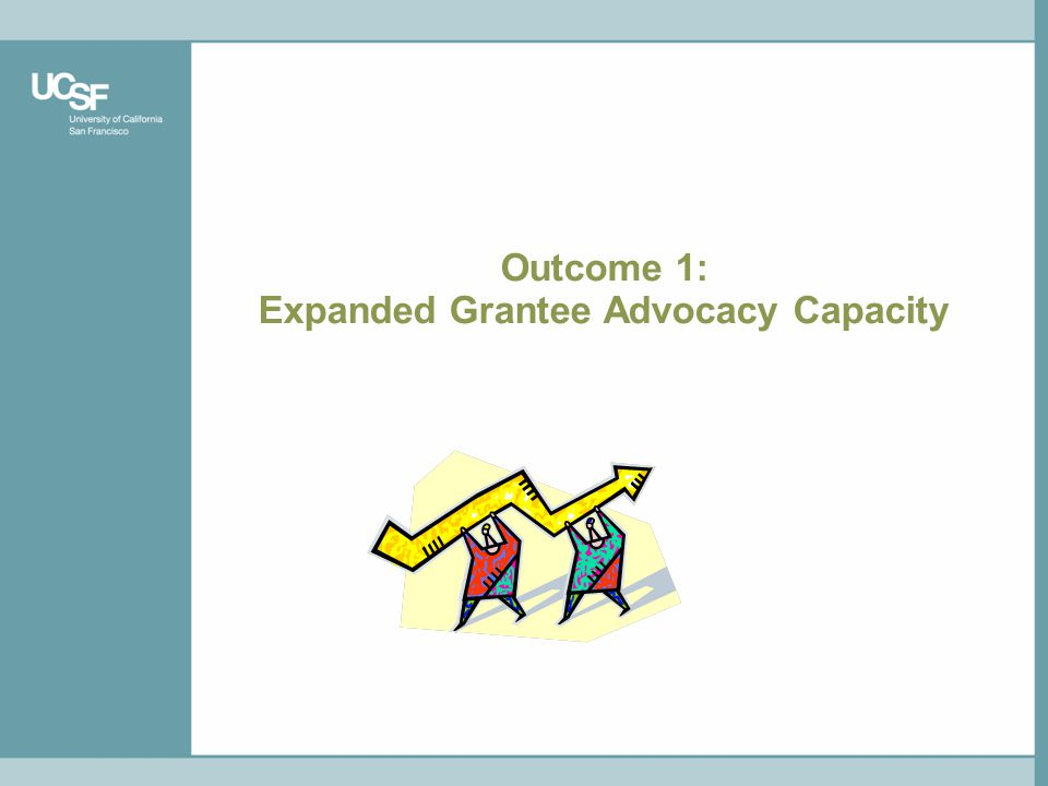 Outcome 1: Expanded Grantee Advocacy Capacity