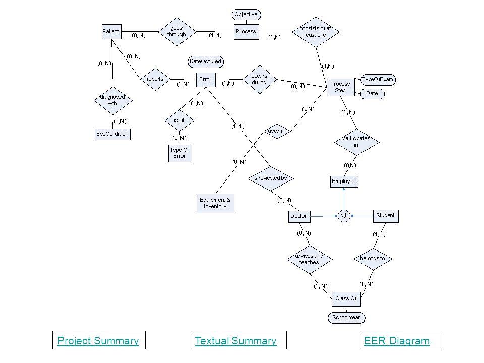 Project SummaryTextual SummaryEER Diagram