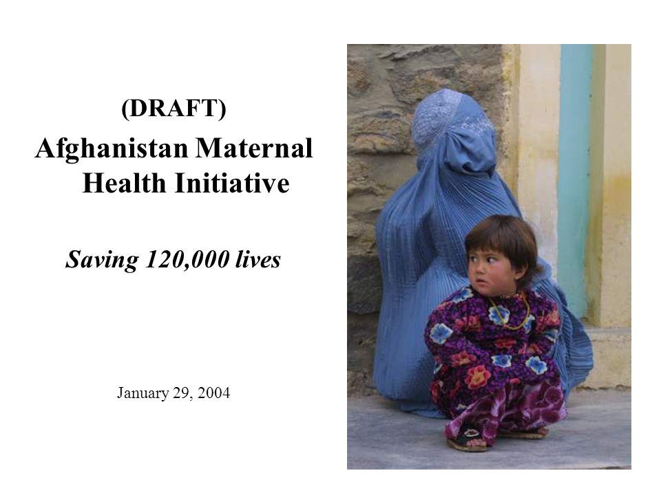 (DRAFT) Afghanistan Maternal Health Initiative Saving 120,000 lives January 29, 2004
