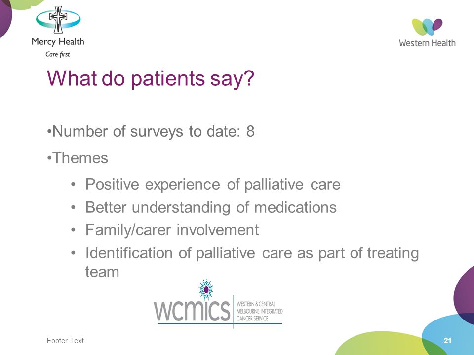 Footer Text21 What do patients say.