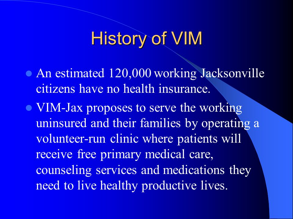 History Cont.The VIM model was created in 1994 by Dr.