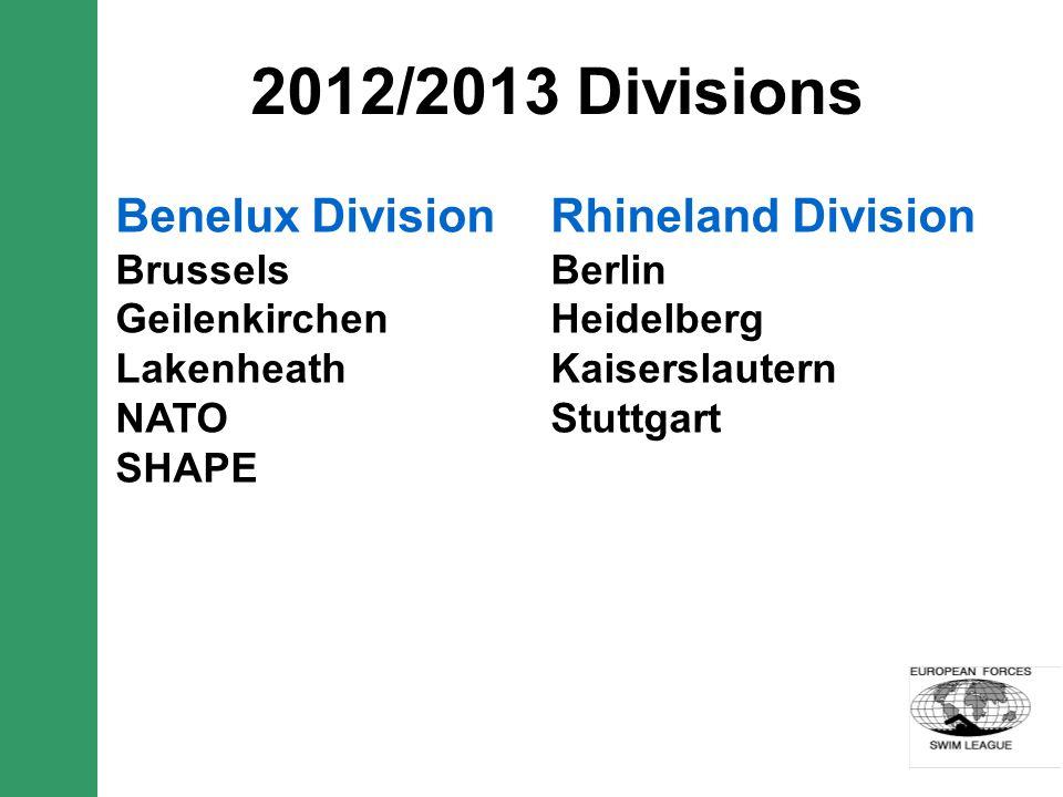 2012/2013 Divisions Rhineland Division Berlin Heidelberg Kaiserslautern Stuttgart Benelux Division Brussels Geilenkirchen Lakenheath NATO SHAPE