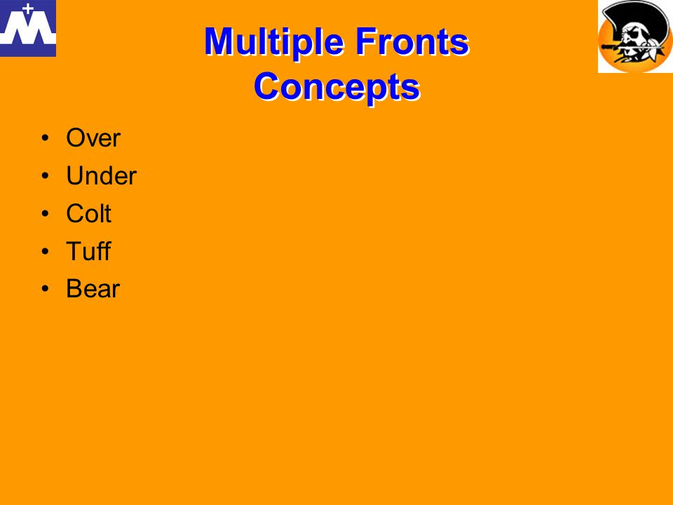 Multiple Fronts Concepts Over Under Colt Tuff Bear