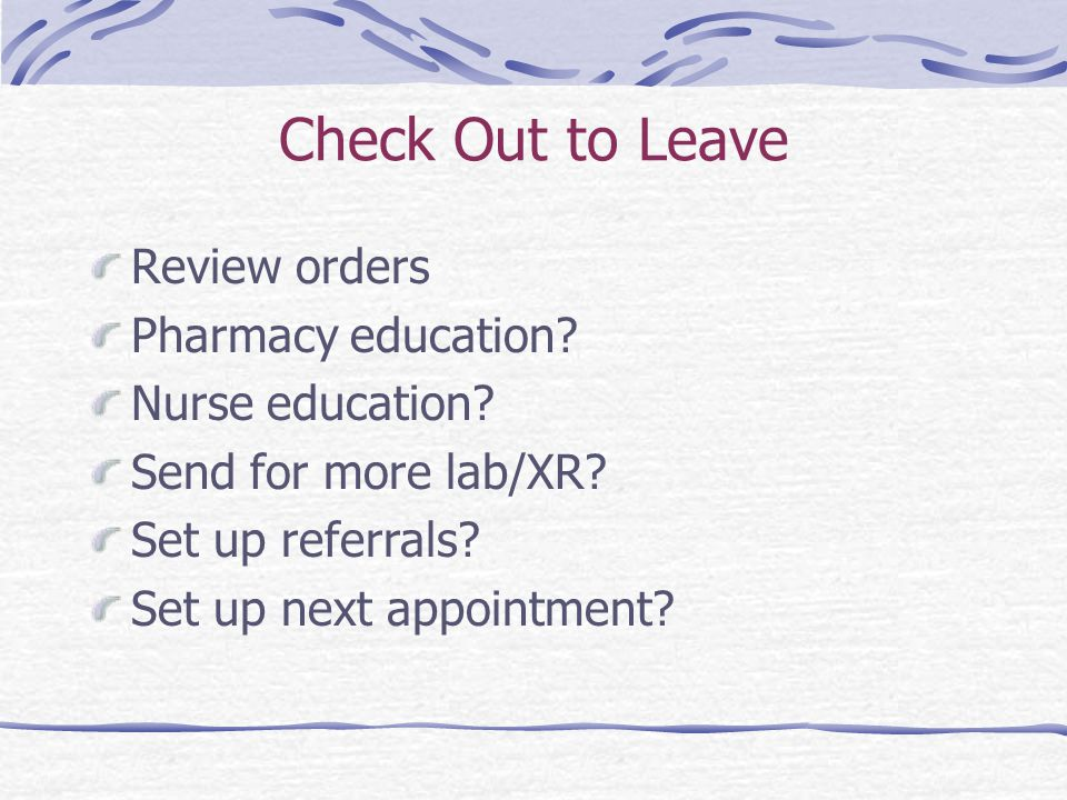 Check Out to Leave Review orders Pharmacy education.
