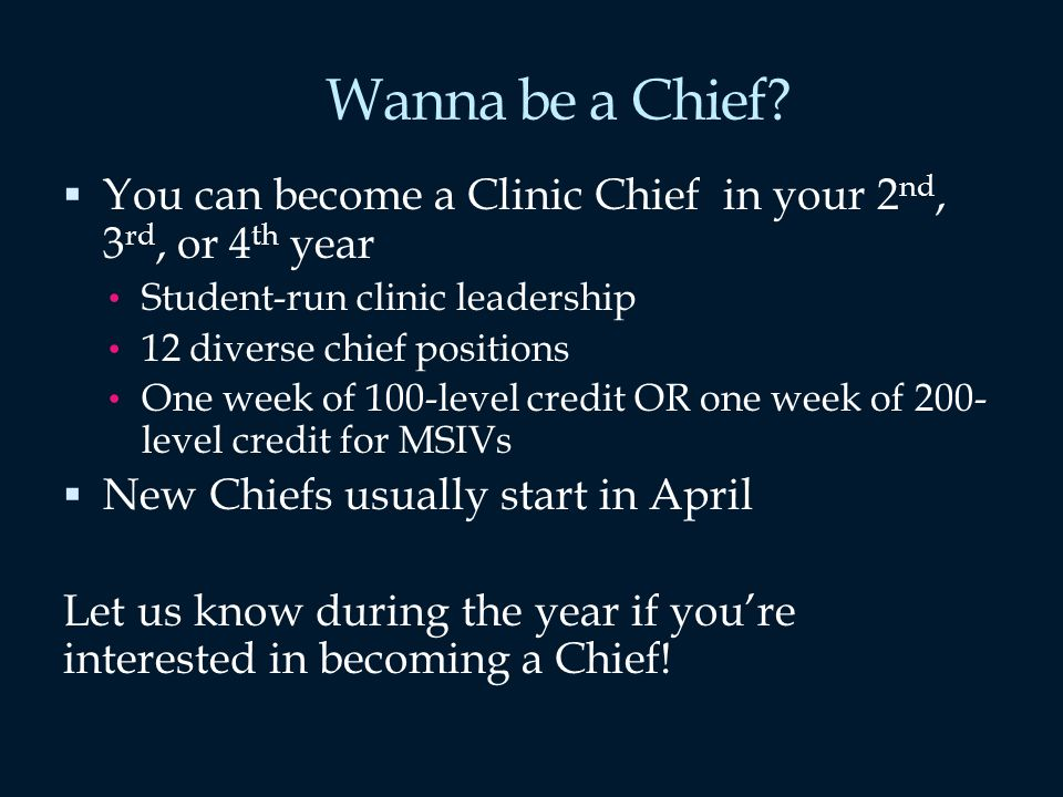 Wanna be a Chief.